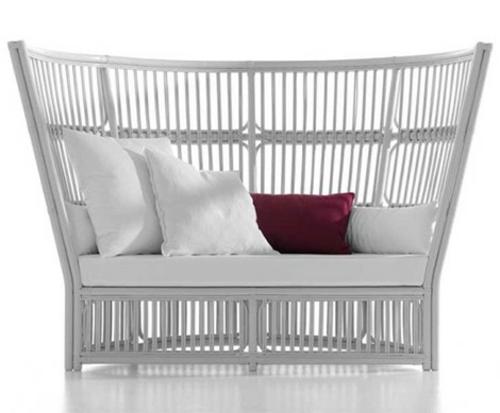 vittorio bonacina orlando sofa weiß gartenmöbel rote kissen balkon gestalten
