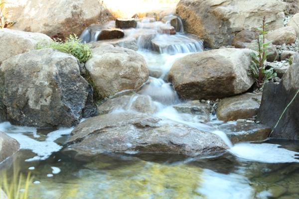 wasser garten landschaft idee kunst originell stein