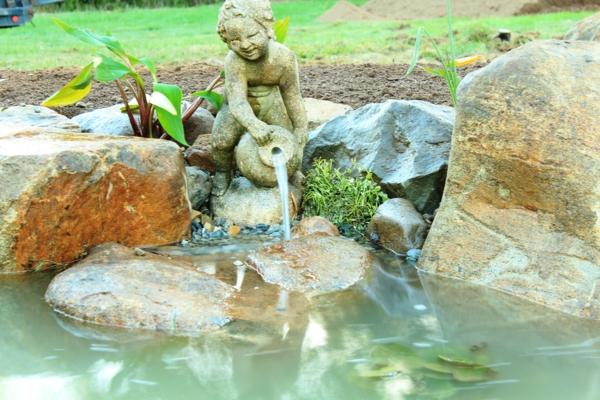 wasser garten landschaft idee kunst statue teich brunnen