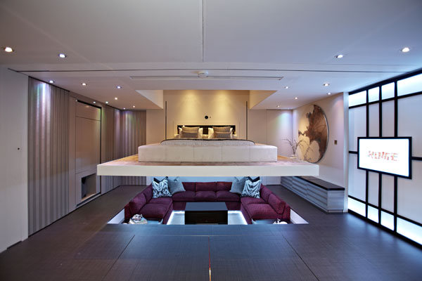 Bett Im Wohnzimmer : Living Room into Bedroom