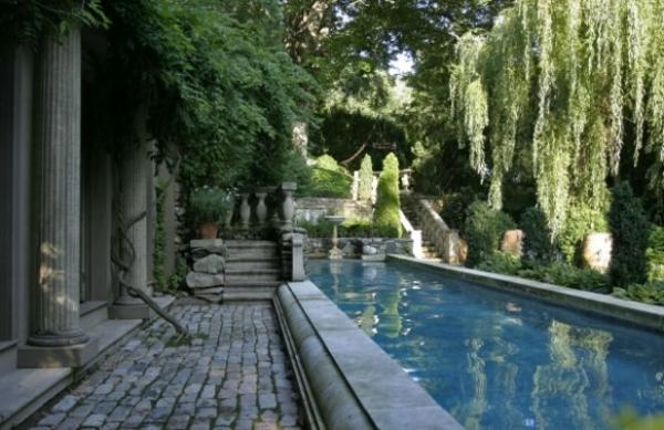 Dekorative Exterior Accessoires Ideen teich wassergarten