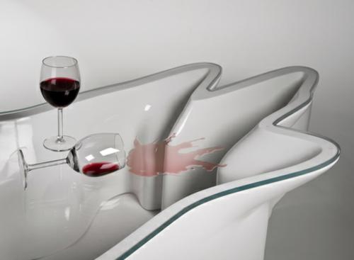 DNA möbel designs glanzvoll oberfläche tisch wein glas