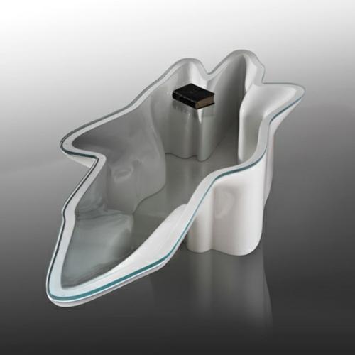 DNA möbel designs glanzvoll tisch glas oberfläche buch
