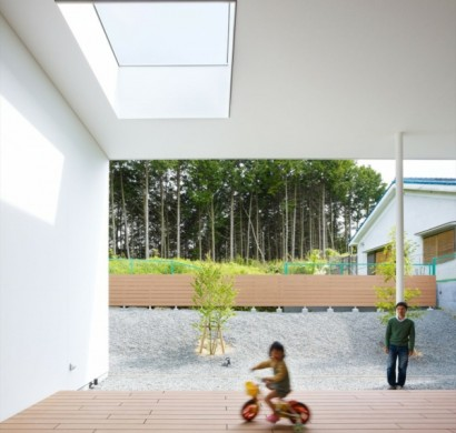 Minimalistisches Architekten Haus von Fujiwarramuro Architects