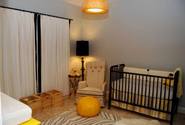 Moderne Schlafzimmer Lampen : Black White Grey Yellow Nursery