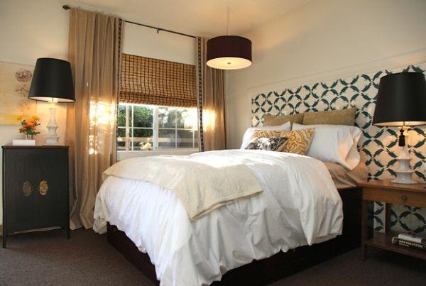 Moderne Schwarze Lampen Schirme In Interior Design Mit Stil   Schlafzimmer  Lampen Design