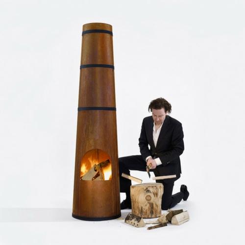 Outdoor Holz Kaminofen in Form von Schornstein design