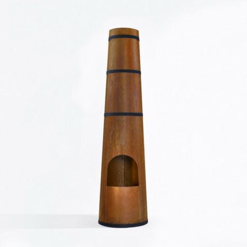 Outdoor Holz Kaminofen in Form von Schornstein originell