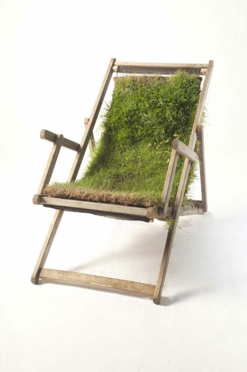 Recycelte Möbel als Pflanzen Behälter verwendet stuhl schlicht