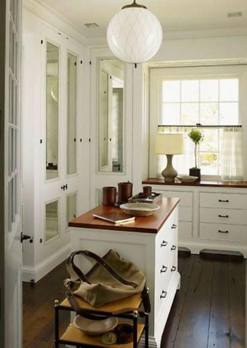 ankleideraum gestalten elegant schlicht weiß