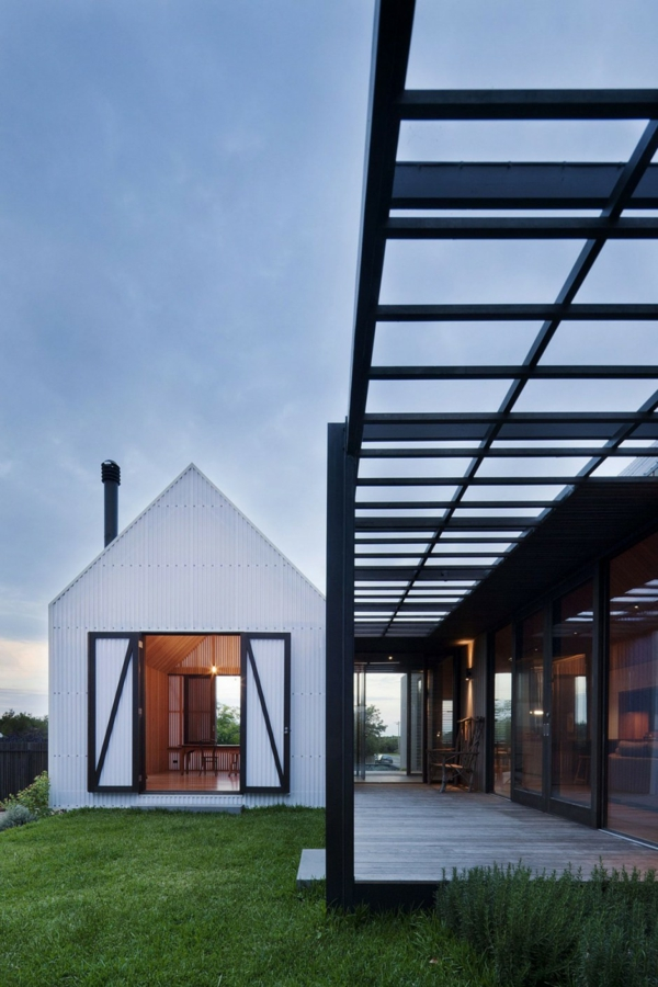 architektur und design australien haus glas verbindung häuschen