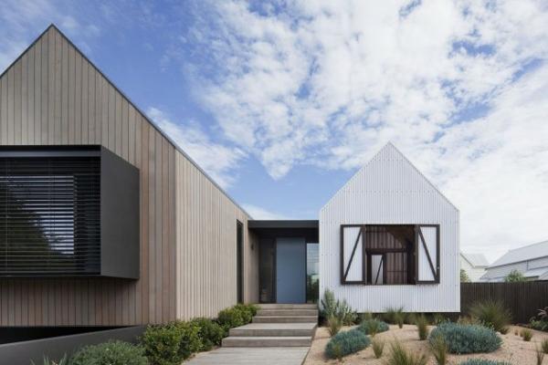 architektur design australien haus holz struktur häuschen