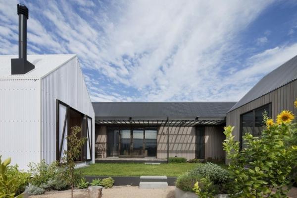 architektur und design australien haus innenhof häuschen