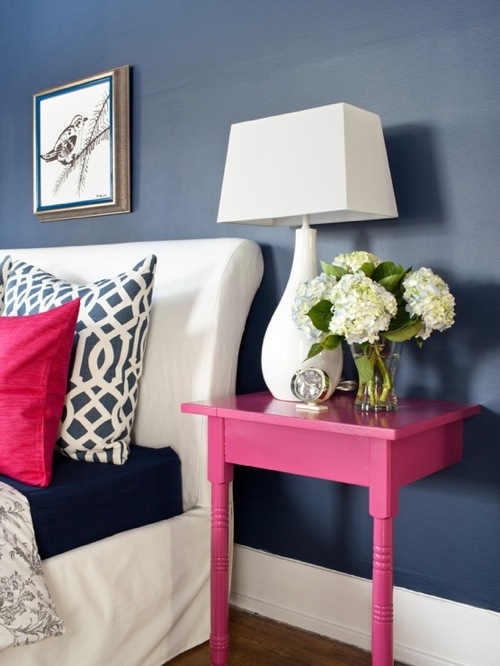 attraktive nacht tisch designs rosa wand befestigt schlicht