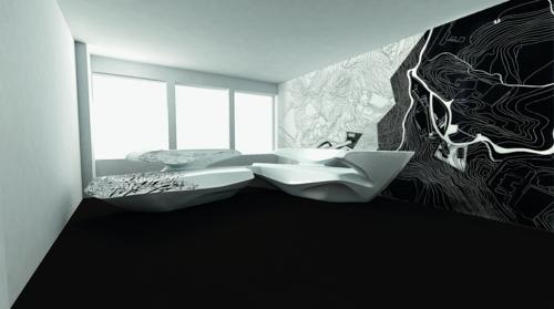 attraktives schönes designer sofa idee zaha hadid