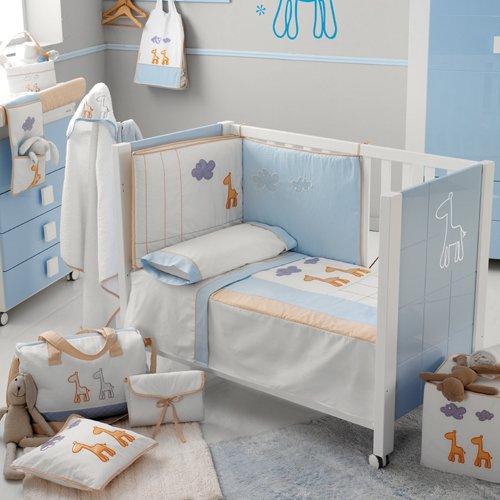 Babyzimmer Gestalten Afrika Micuna Bett Wickelkommodebabybett Blau
