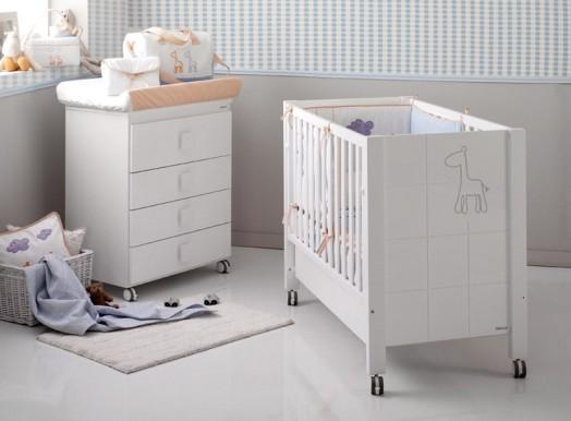 babyzimmer gestalten afrika micuna bett wickelkommode weiß