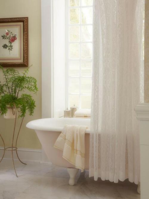 badezimmer design möbel weiblich badewanne blumen cremig