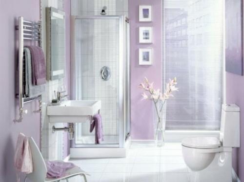 badezimmer design möbel weiblich duschkabine lilla