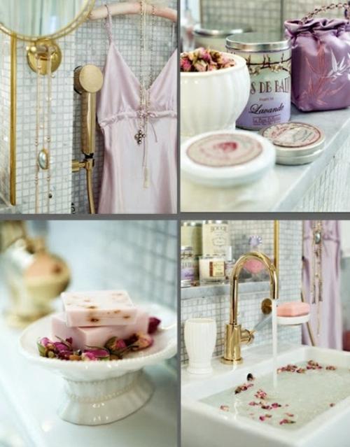 badezimmer design möbel weiblich romantisch akzente