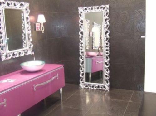 Badezimmer Design Möbel Weiblich Spiegel Rahmen Pink