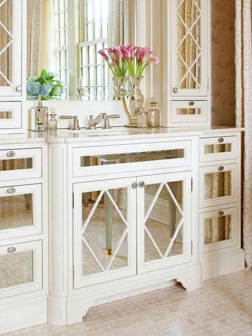 badezimmer design möbel weiblich waschbeken weiß spiegel unterschrank