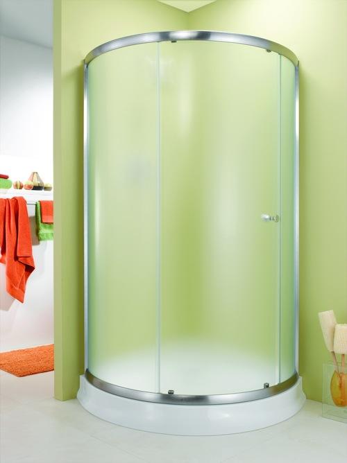 badezimmer ideen duschkabine fleurco banyo grün matt