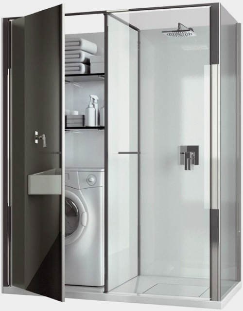 Badezimmer ideen moderne duschkabinen designs for Mueble encima wc ikea