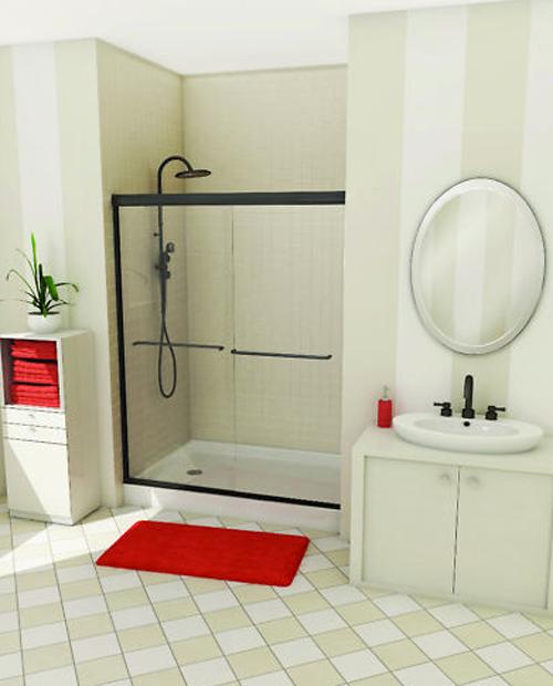 badezimmer ideen duschkabine glas maax new session