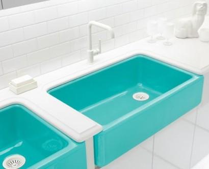 Waschbecken Farbig.Badezimmer Ideen Auffallende Farbige Waschbecken
