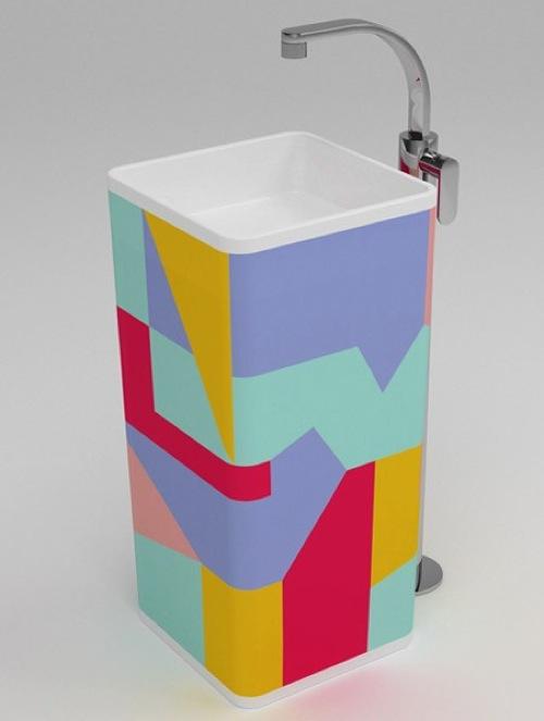 badezimmer ideen waschbecken monowash pedestal ceramica flaminia