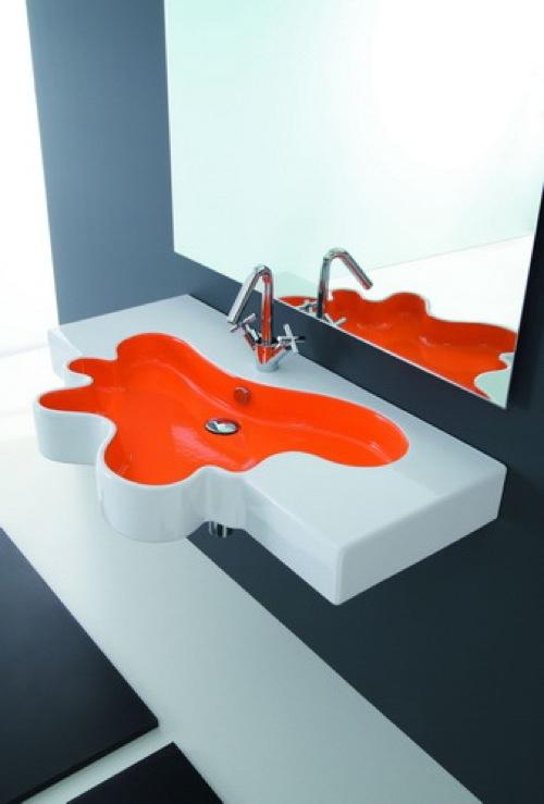 badezimmer ideen waschbecken splash disegno ceramica