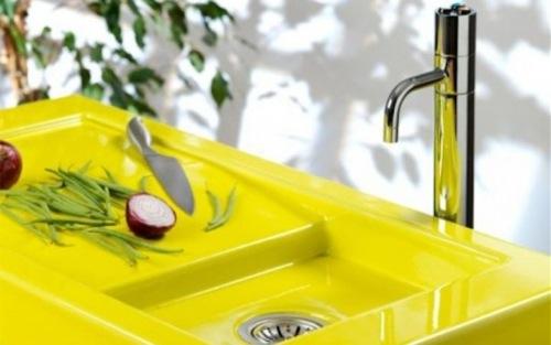 badezimmer ideen yellow sink pyrolave waschbecken