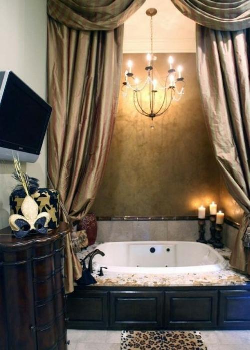 badezimmer möbel weiblich gardinen bildschirm braun badewanne