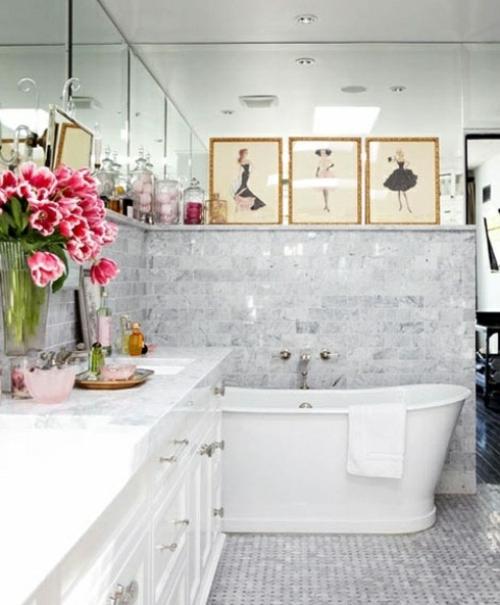 badezimmer möbel weiblich tblumen deko modezeichnungen