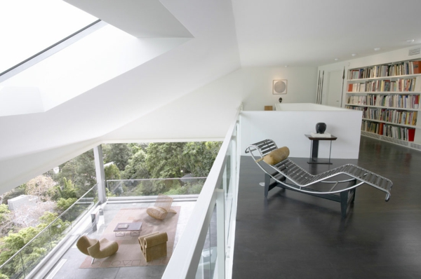 balkon design tipps nacht städtisch modern eigenartig liege metall