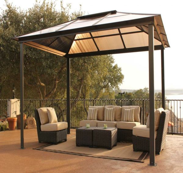 balkon m bel aus rattan coole designer ideen. Black Bedroom Furniture Sets. Home Design Ideas