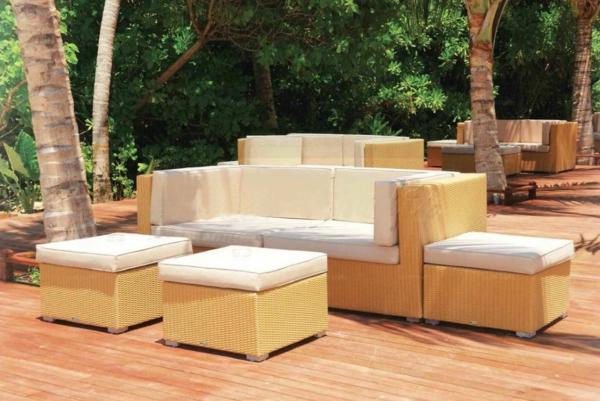 balkon möbel aus rattan gartenmöbel lounge