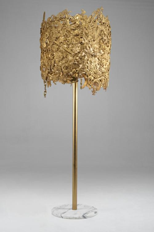 barock möbel design aus brasilien goldgelb stehlampe