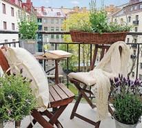 Kleinen Balkon gestalten – schaffen Sie eine grüne Entspannungsecke