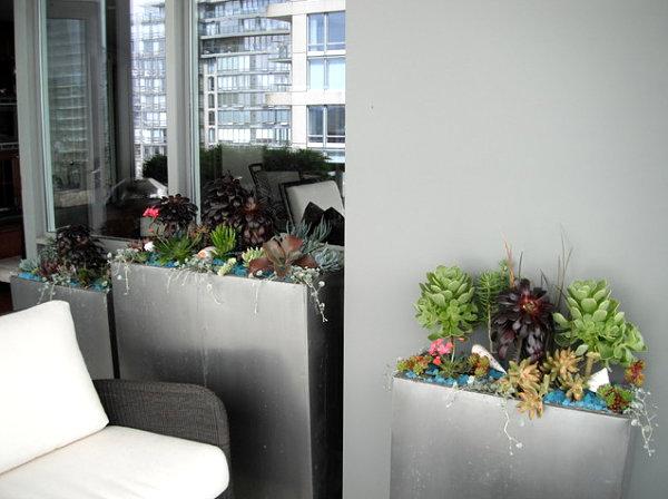 coole balkon deko ideen blumen kübel