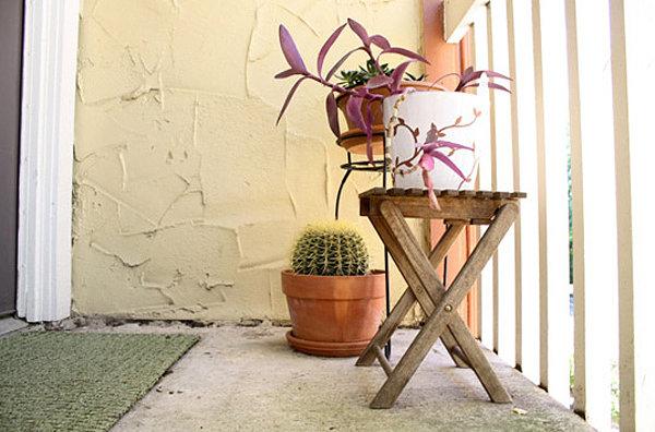 coole balkon deko ideen blumen kaktus