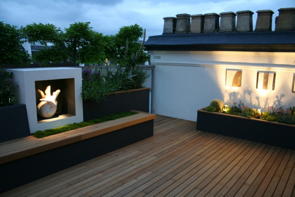 top ideen f r coole dachterrasse designs sch ne. Black Bedroom Furniture Sets. Home Design Ideas