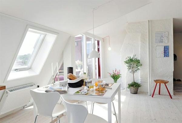 coole esszimmer designs essbereich fenster sonnenlicht hell
