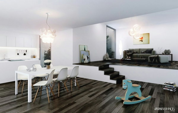 Coole esszimmer designs in wei aufregende designer for Essecke design