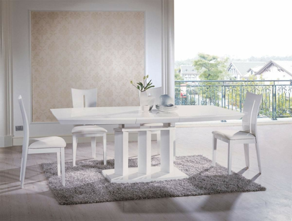 coole esszimmer designs in weiß - aufregende designer vorschläge - Esszimmer Weiss