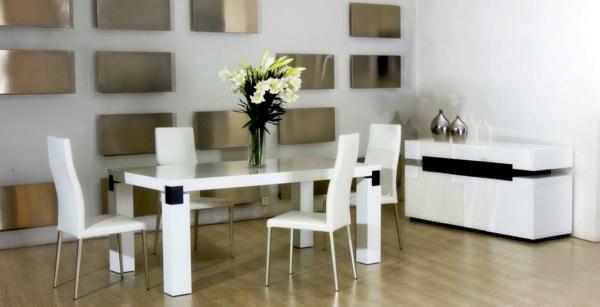 Coole esszimmer designs in wei aufregende designer vorschl ge - Esszimmer wanddeko ...
