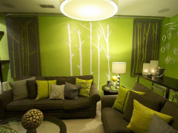 coole farben für wohnzimmer - elegante, schöne farbschemas zu hause - Wohnzimmer Farben Beispiele Grun