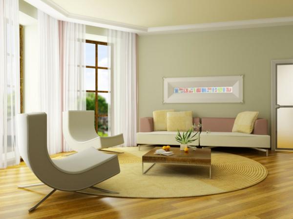 Moderne farbgestaltung wohnzimmer  Coole Farben für Wohnzimmer - Elegante, schöne Farbschemas zu Hause