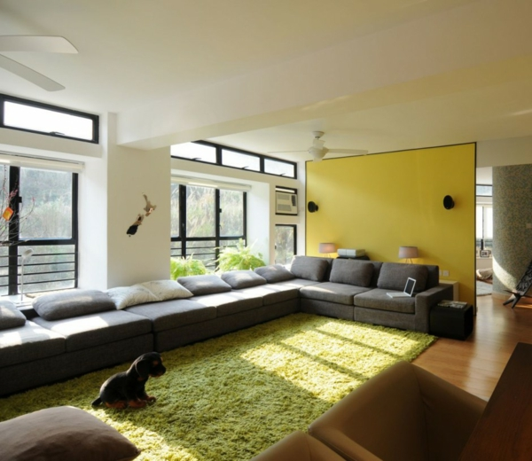coole farben für wohnzimmer - elegante, schöne farbschemas zu hause - Wohnzimmer Grun Lila